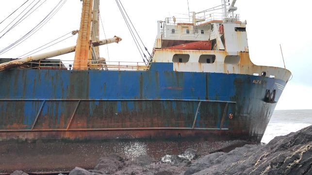 The abandoned vessel Alta. Photo Ballycotton Sea Adventures / Twitter.
