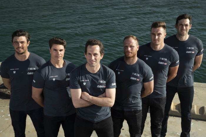 The Great Britain SailGP Team presented by INEOS (L to R): Iain Jensen