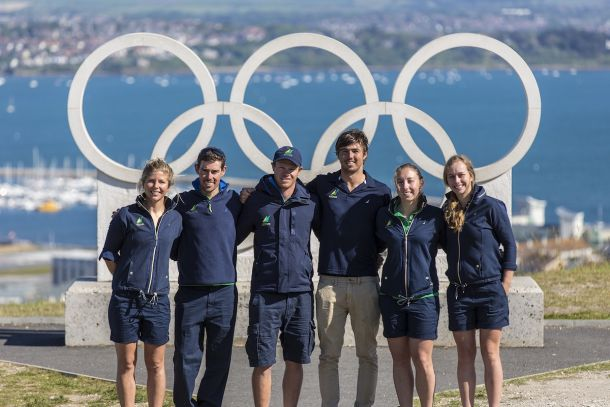 The Australian Olympic Sailing Team at Weymouth. Image courtesy Beau Outteridge.
