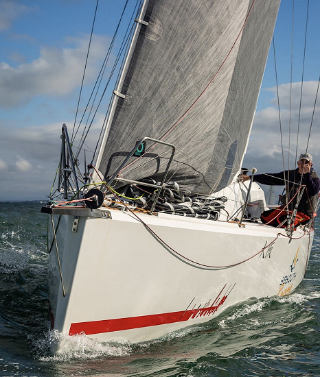 Rod Smallman and Maverick - new Double-Handed champion - Dave Hewison pic - King Island Race.