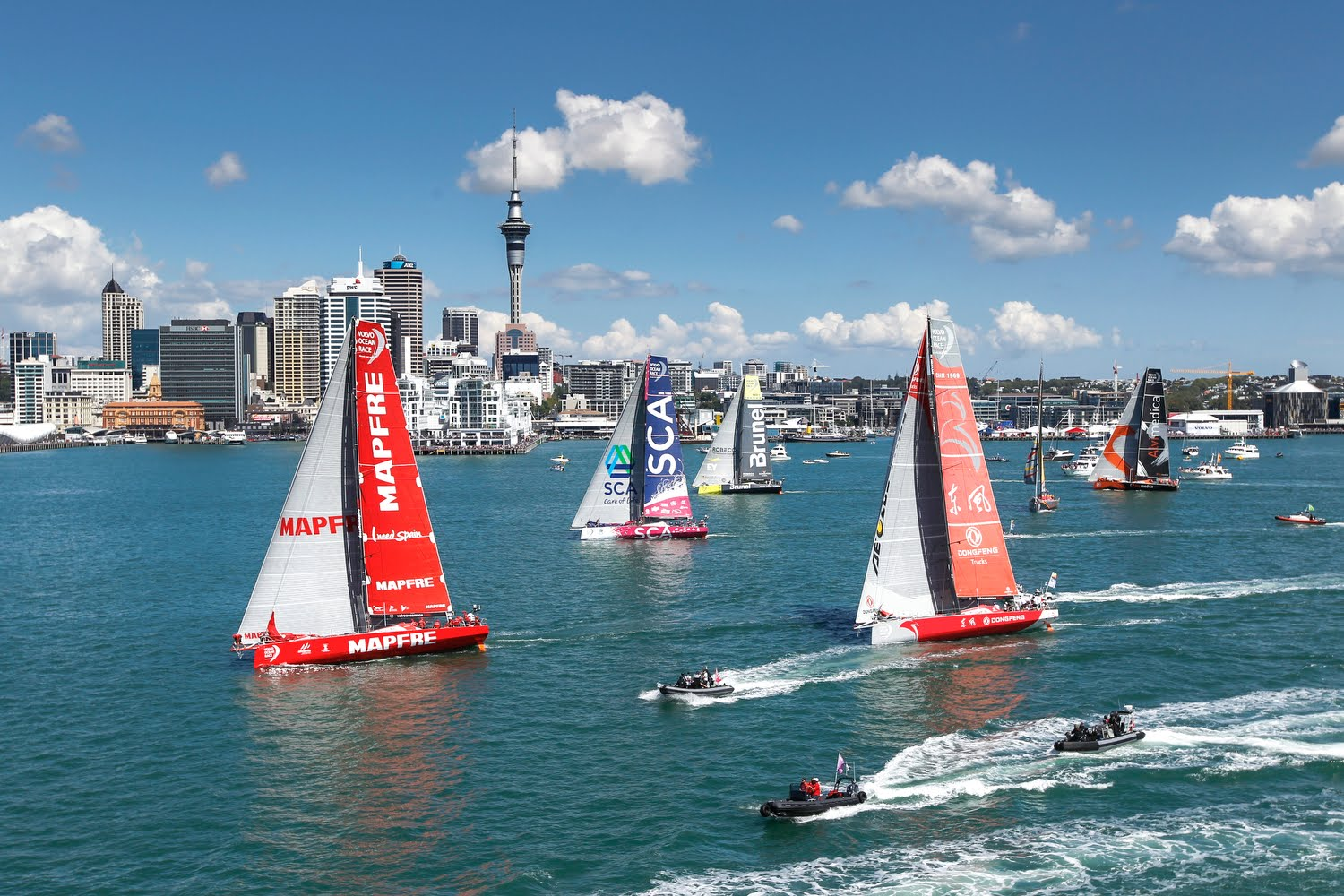 A shot from the New Zealand In Port Race - VOR pic