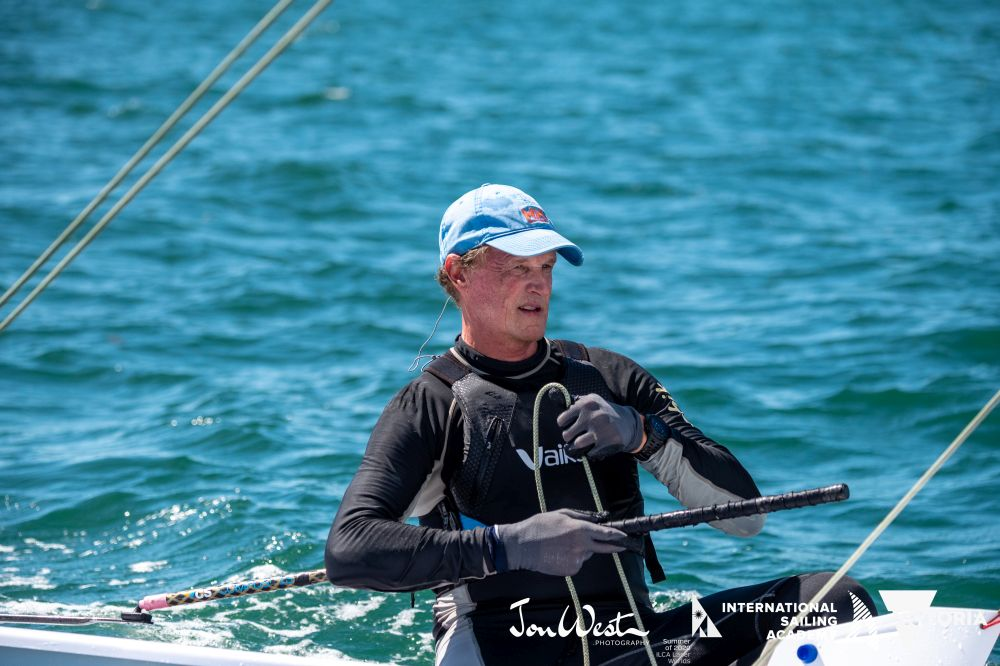 Brett Beyer was the stand-out performer at the Oceania and Australian Laser Masters Championship. Photo Jon West Photography.