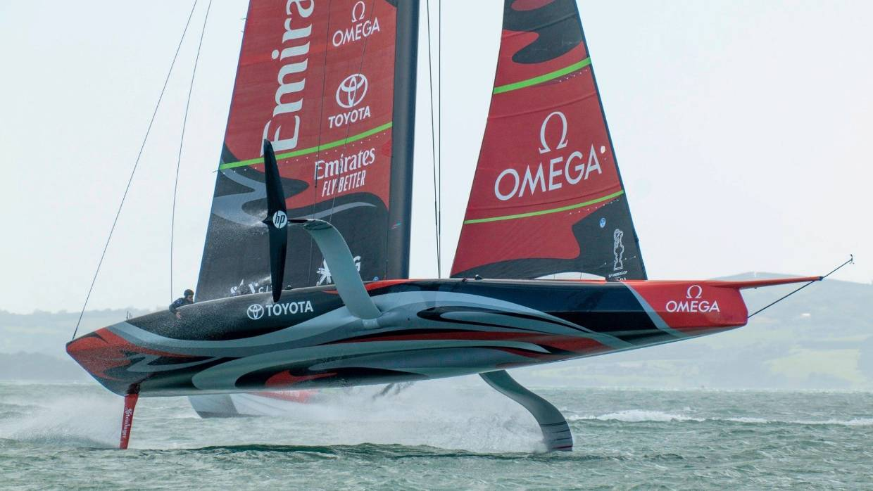 Emirates Team New Zealand - eager to see the boat return home