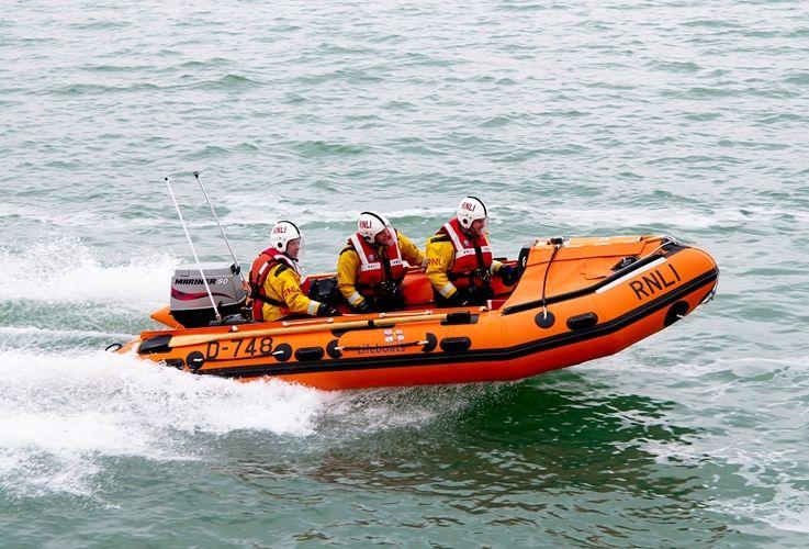 RNLI Calshot's D-Class lifeboat in action. Photo RNLI/Justyn Leonard.