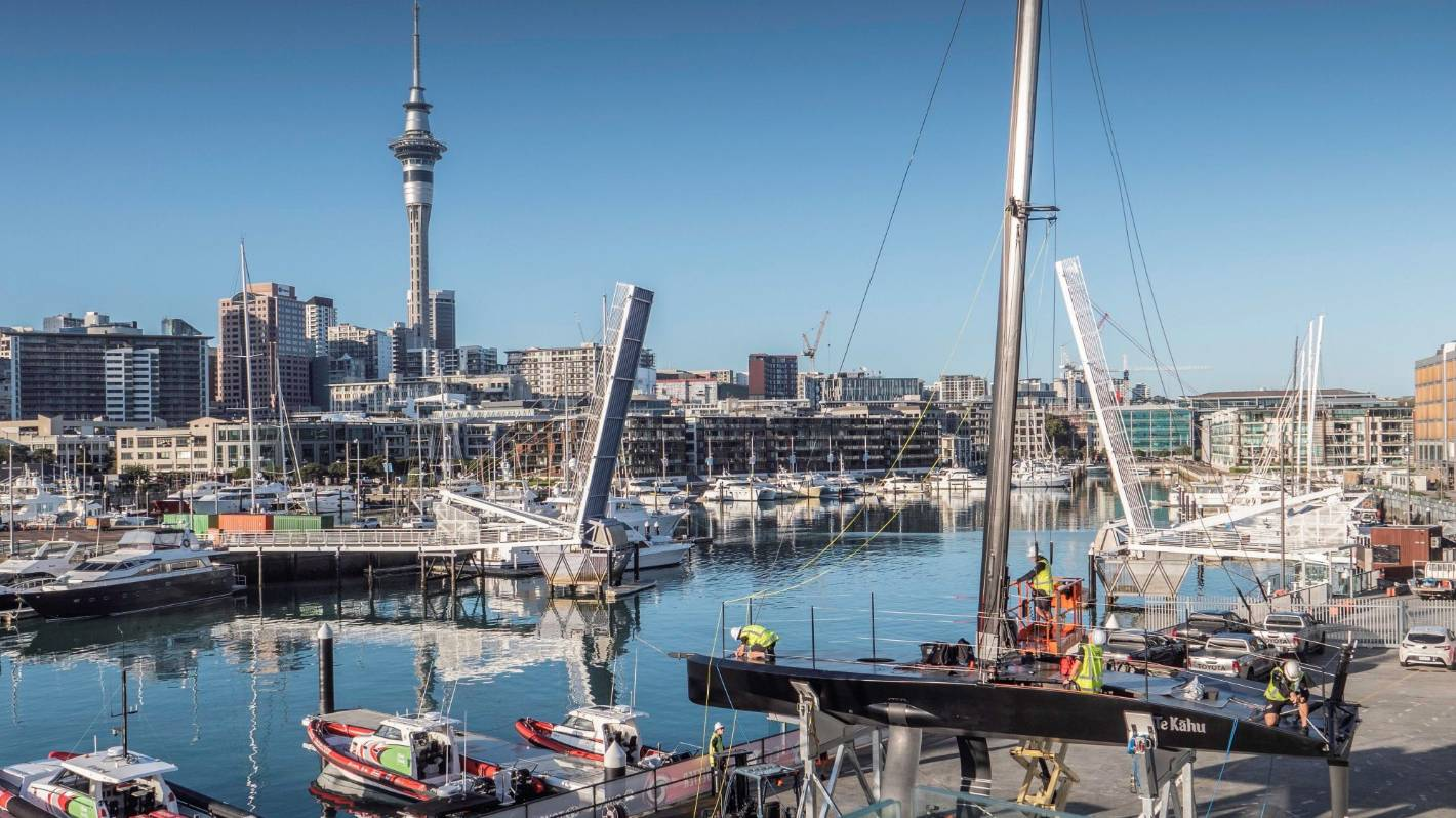 Team New Zealand got their test boat Te Kahu back in the water on Thursday.