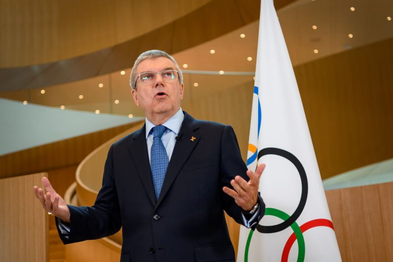 IOC President Thomas Bach - the IOC has admitted for the first time postponement of Tokyo 2020 is under consideration ©Getty Images.