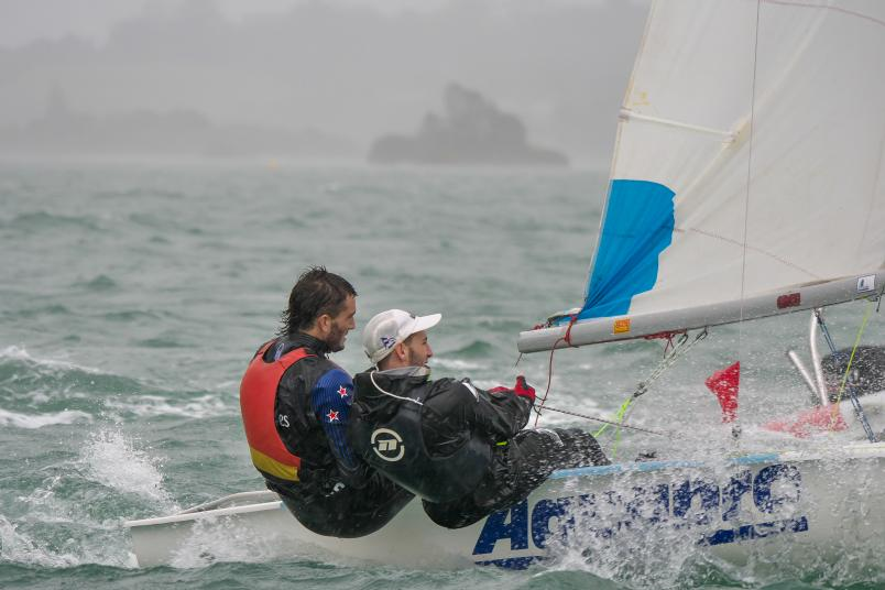Blair Tuke sailed with his brother Jesse in an all-Kerikeri team. Photo: Bruce Carter.
