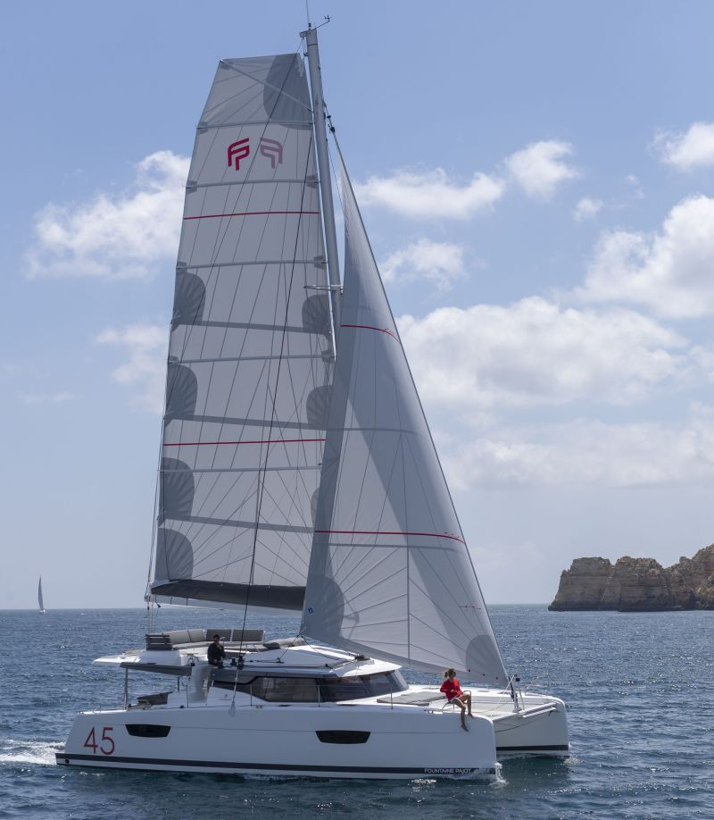 """Multihull Solutions will showcase the award-winning Fountaine Pajot Elba 45 sailing catamaran at the """"Open-For-Inspection"""" event on 26-27 June."""
