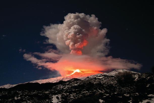 Mt Aetna having a blast.