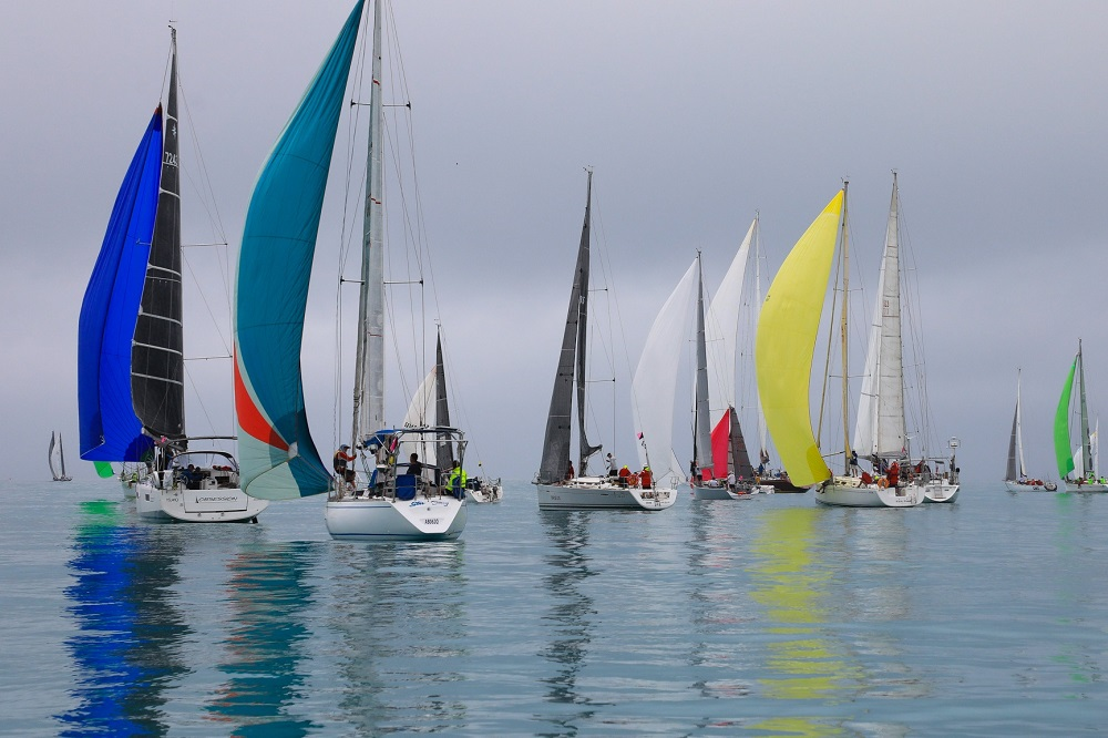 Cruising Division 2 yachts on the millpont - Shirley Wodson pic