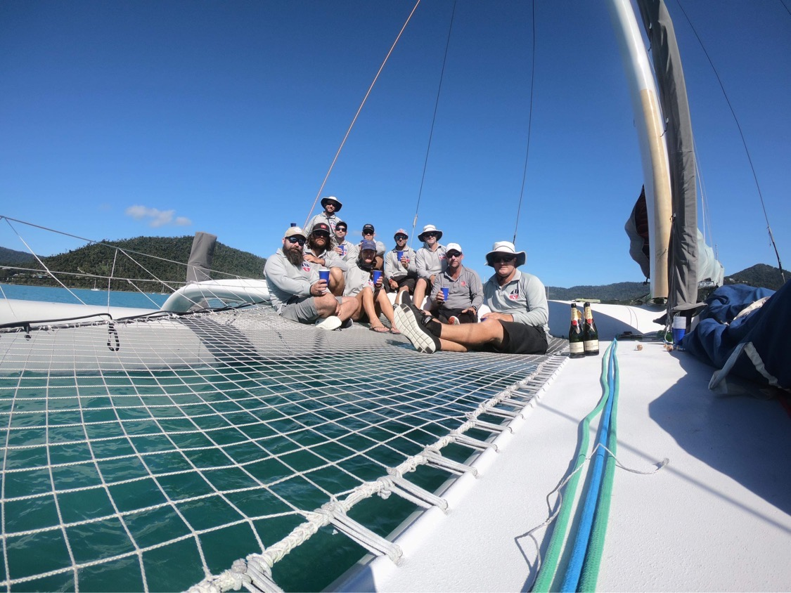 ORMA 60 crew - French champagne to celebrate the win - pic courtesy ORMA 60.