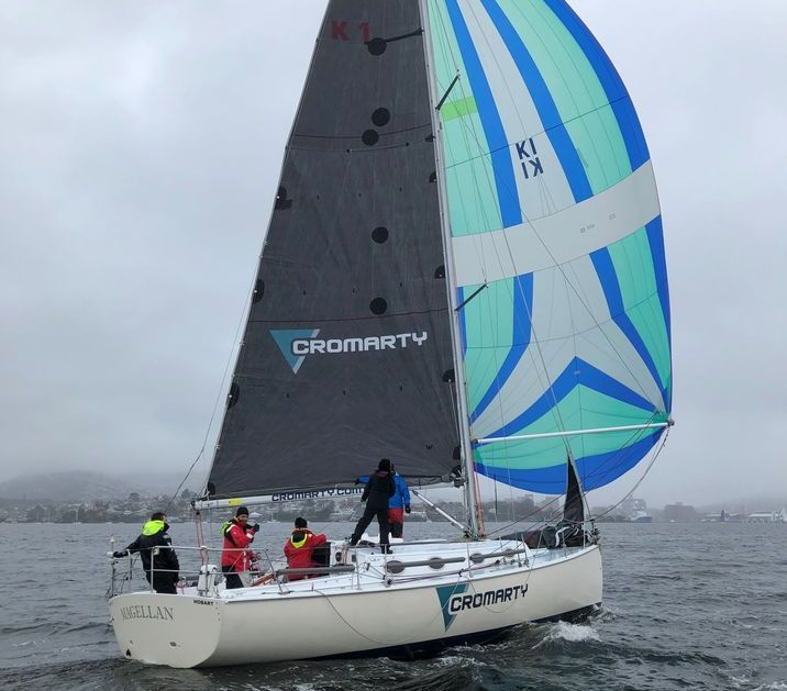 Cromarty Magellan won Division 2 of the Combined Clubs Winter Series on the River Derwent today. Photo;  RYCT.