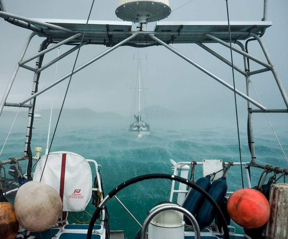 Wind gusts topped 60 knots