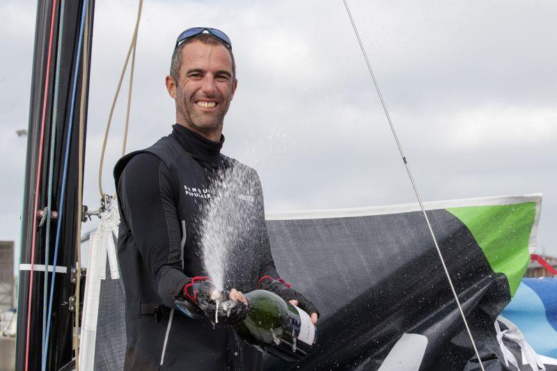 Armel Le Cleac'h (Banque Populaire) winner of the second stage of la Solitaire du Figaro - Baie de Saint-Brieuc/Dunkerque © Alexis Courcoux.