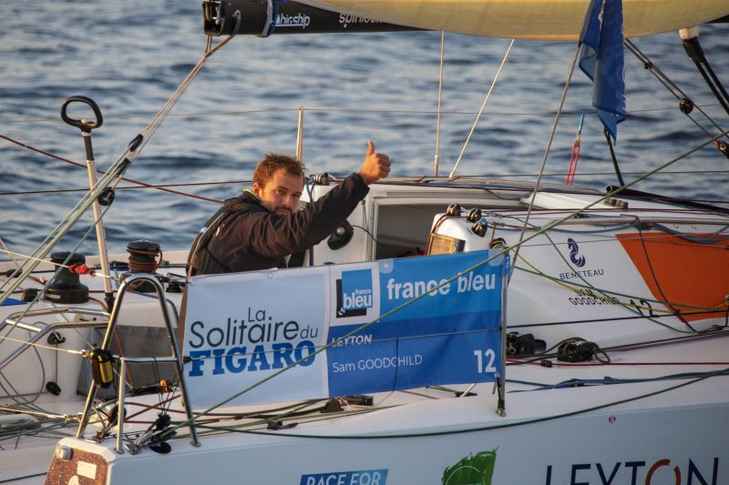 Sam Goodchild (Leyton) during the third leg of la Solitaire du Figaro between Dunkerque and Saint-Nazaire. Photo © COURCOUX Alexis.