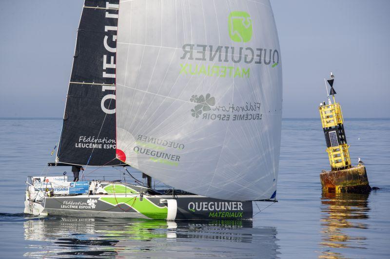 Yann Elies (Quéguiner Matériaux-Leucémie Espoir) lors de la 3e étape de La Solitaire du Figaro entre Dunkerque et la Loire-Atlan © Alexis Courcoux.