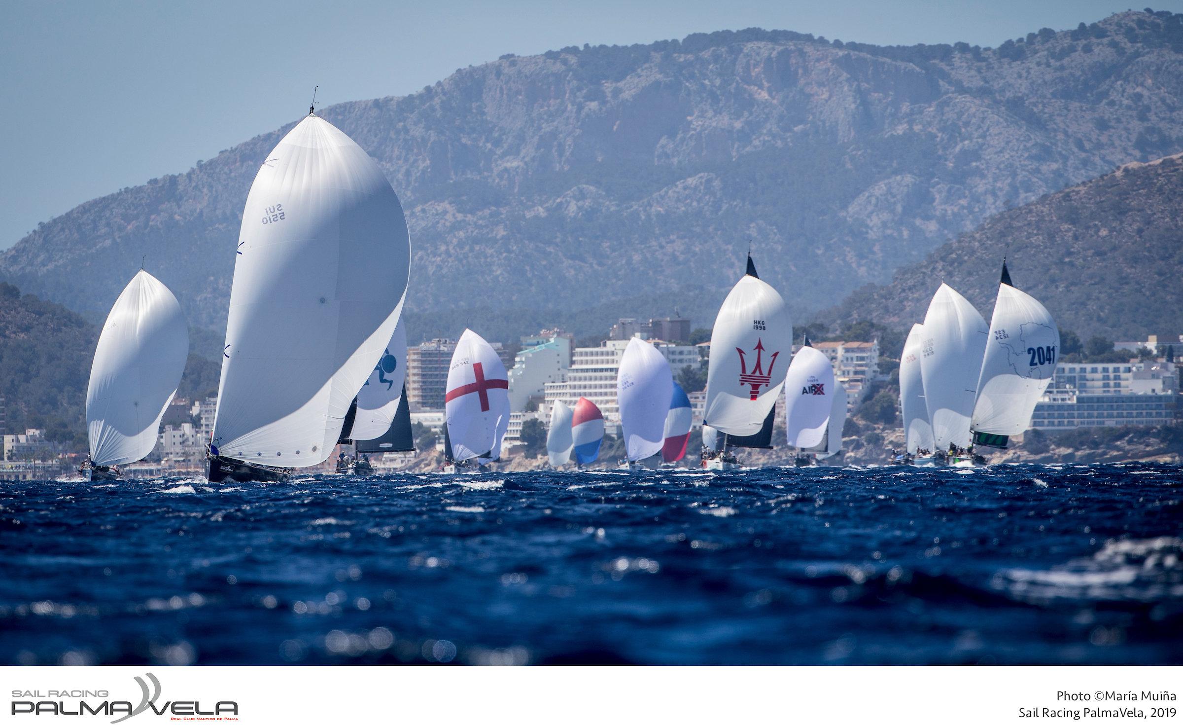 Mallorca Sotheby´s ORC 1 fleet sailing today on the Bay of Palma. Photo Maria Muina.