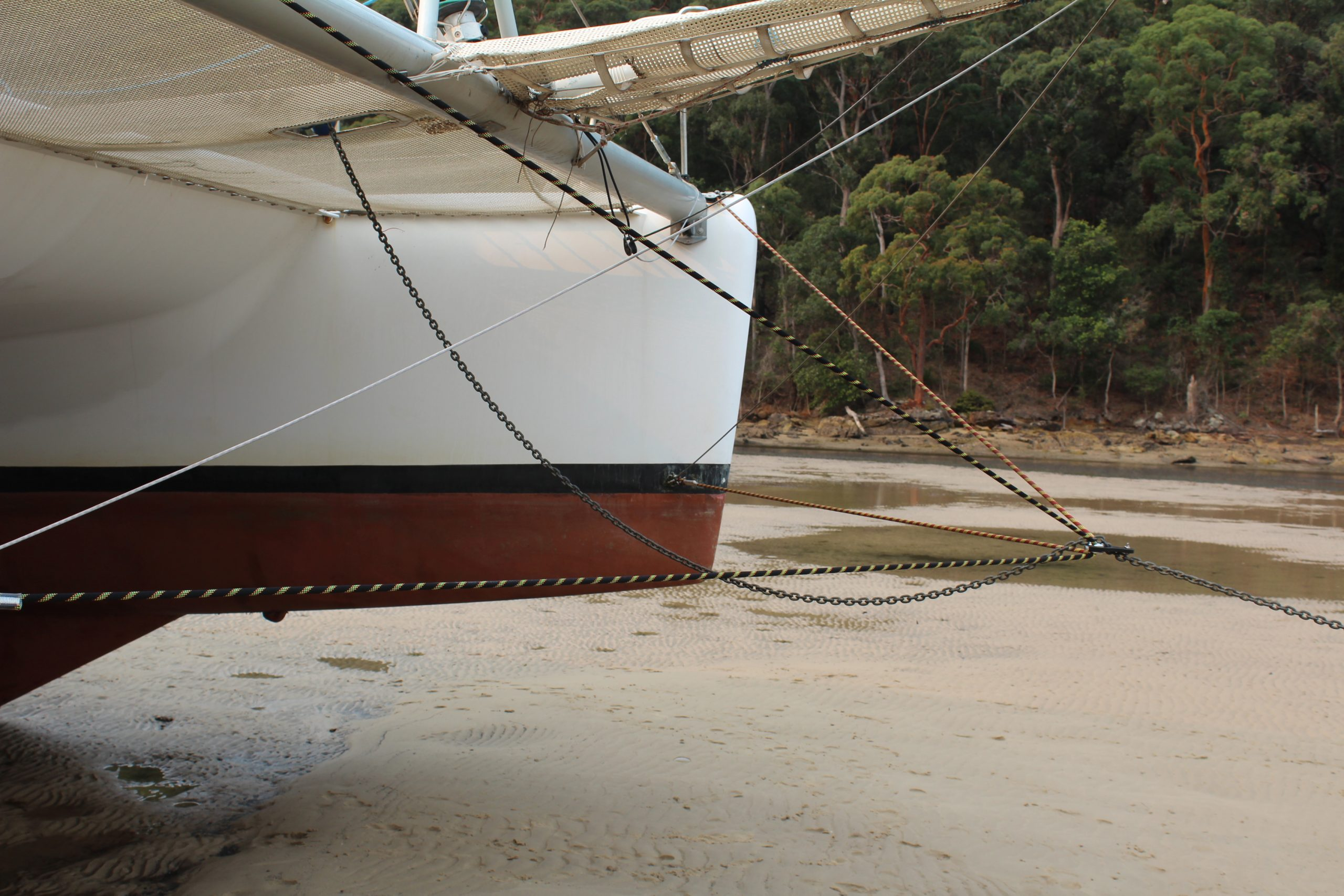 Our bridle now comprises a conventional horizontal 'V' bridle