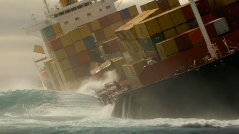 Container ship losing cargo. Photo Maritime Executive.