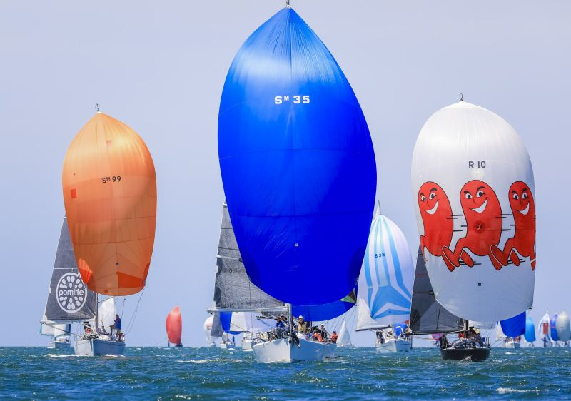 Festival of Sails fleet colour on the final day. Photo credit Salty Dingo.