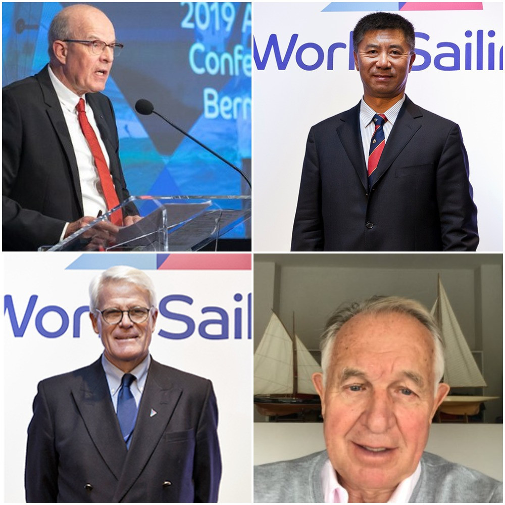 The World Sailing Presidency candidates - top left Kim Andersen