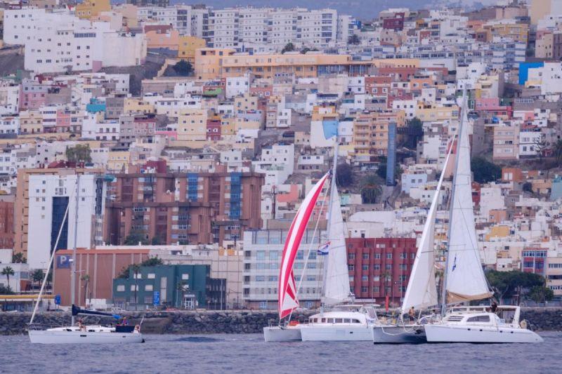 Las Palmas de Gran Canaria as the backdrop to the start of ARC+ 2020. Credit: WCC / Jésus de Leon