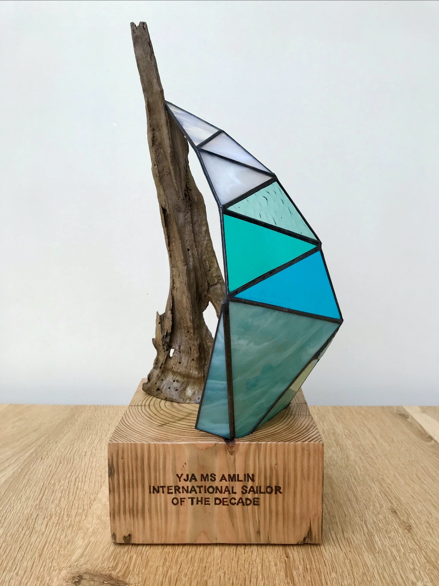 Jo Munford - Seaview Studio - First Viewing of the YJA MS Amlin Sailor of the Decade Trophy.