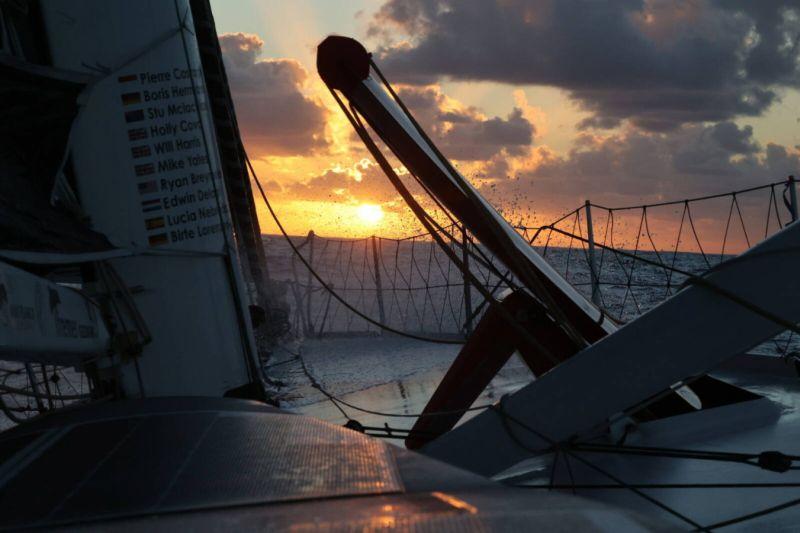 Sunset aboard Seaexplorer - YC de Monaco - © Boris Herrmann / Seaexplorer - YC de Monaco