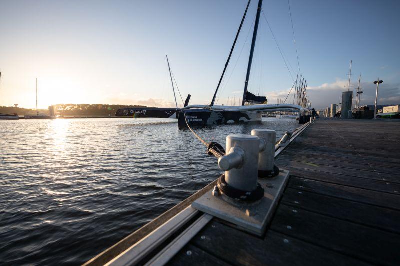 The maxi Edmond de Rothschild at the dock. Photo  © E.Stiechlebaut / polaRYSE / Gitana S.A.