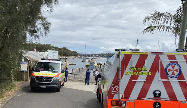 A man was transported to hospital in a stable condition after two yachts collided near Cronulla. Source: Supplied