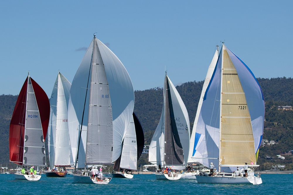 Cruising Division on the windward-leeward course in Race 6 - Shirley Wodson pic, ABRW 2020.