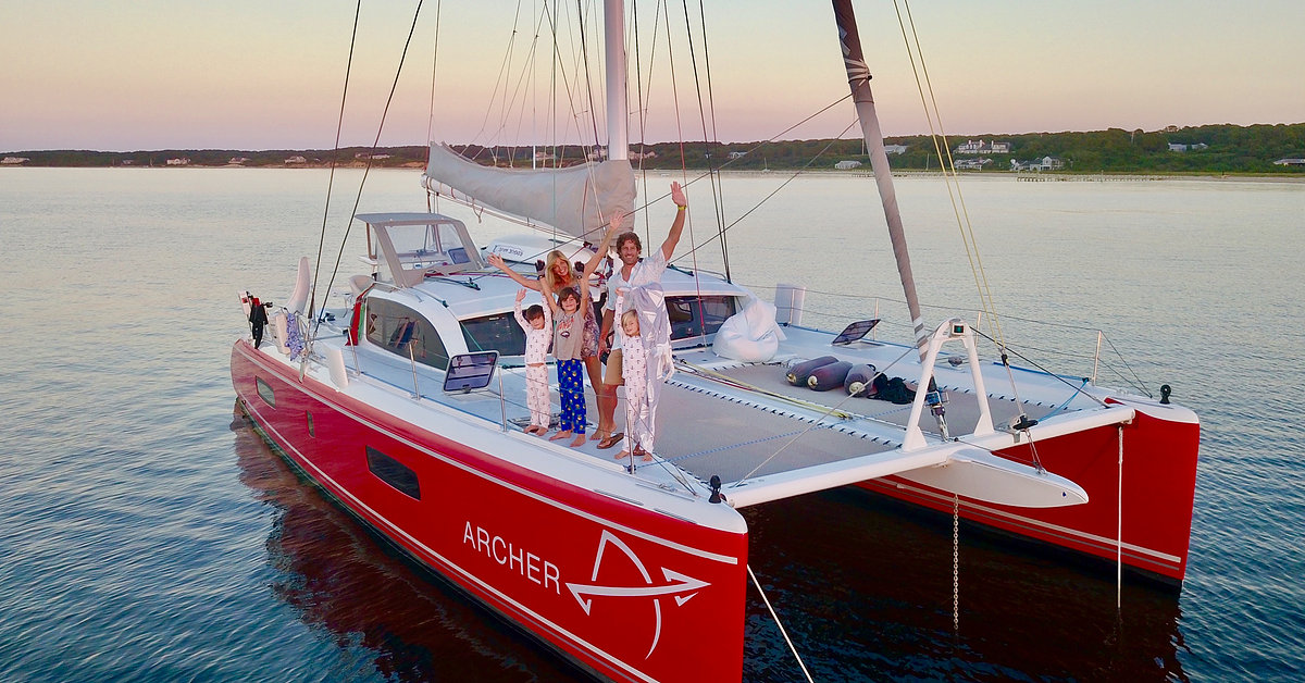 The Sailing Family on their Outremer 51 Archer.