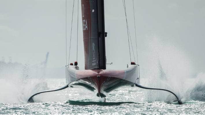 Team New Zealand has been testing ways to reduce their crew movement during racing. CHRIS MCKEEN/STUFF