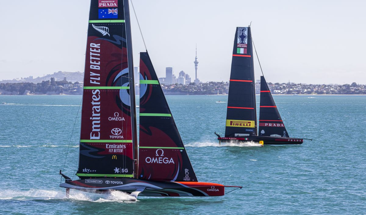 TNZ and Luna Rossa will compete for the America's Cup in the 36th Match. Photo ACE.