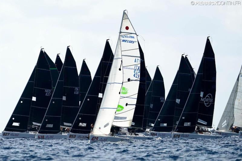 Start of the 2019 Melges Worlds in Sardinia - Pierrick Contin pic
