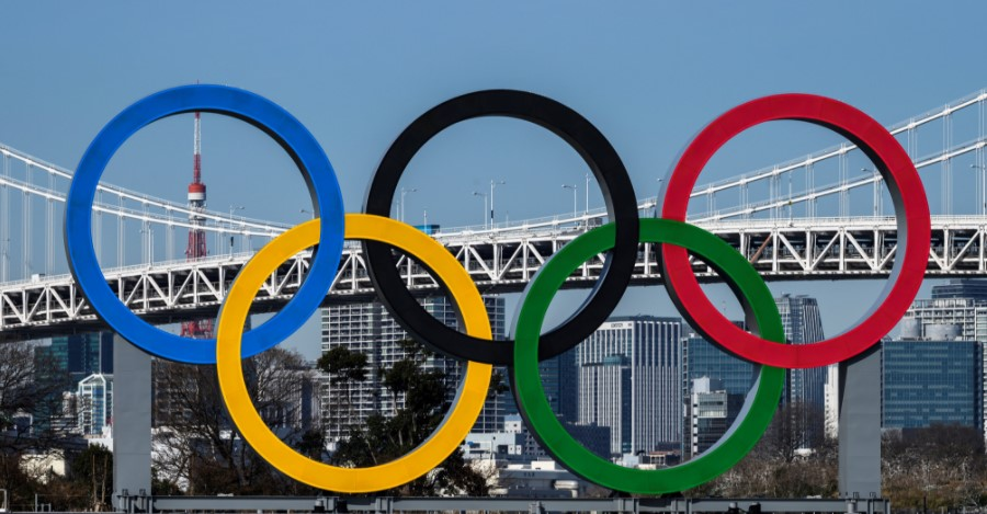 Tokyo Olympic Rings. Photo Getty Images.