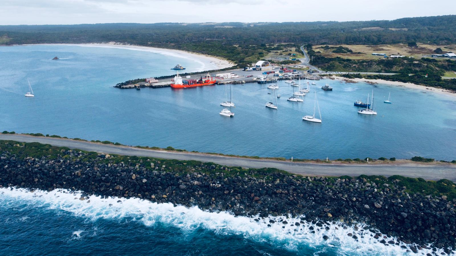 End destination beautiful Grassy Harbour - ORCV media pic - King Island Race.