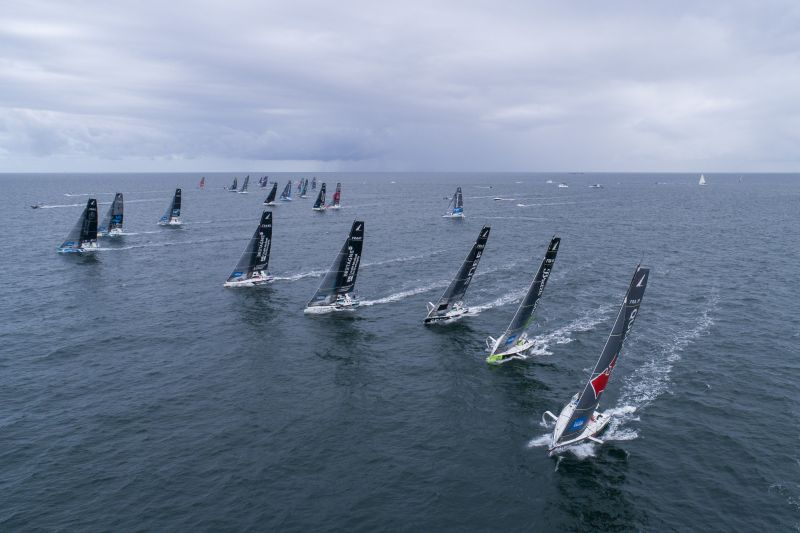 Start of the second leg of La Solitaire du Figaro 2020. © Alexis Courcoux