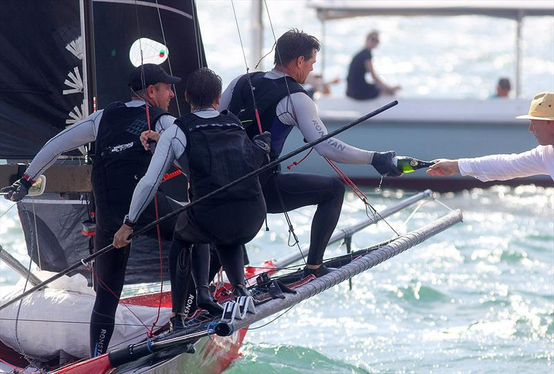 Champagne sailing for the Smeg crew - Frank Quealey pic - JJ Giltinans