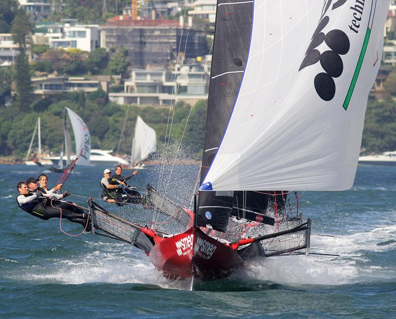 Michael Coxon and his Smeg crew sail to victory - Frank Quealey pic - JJ Giltinans