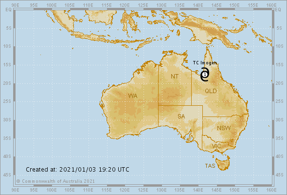 Developing tropical cyclone to cross Qld overnight