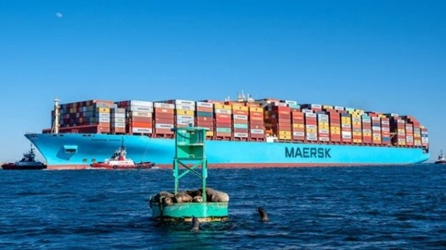 Maersk Essen on a prior call in Los Angeles (Maersk photo)