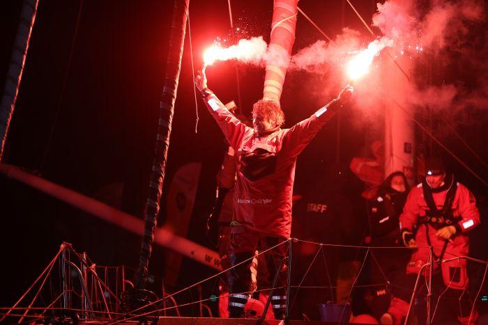 Yannick Bestaven (Maître CoQ IV) wins the Vendee Globe 2020/21. Photo Jean-Marie Liot/Alea.