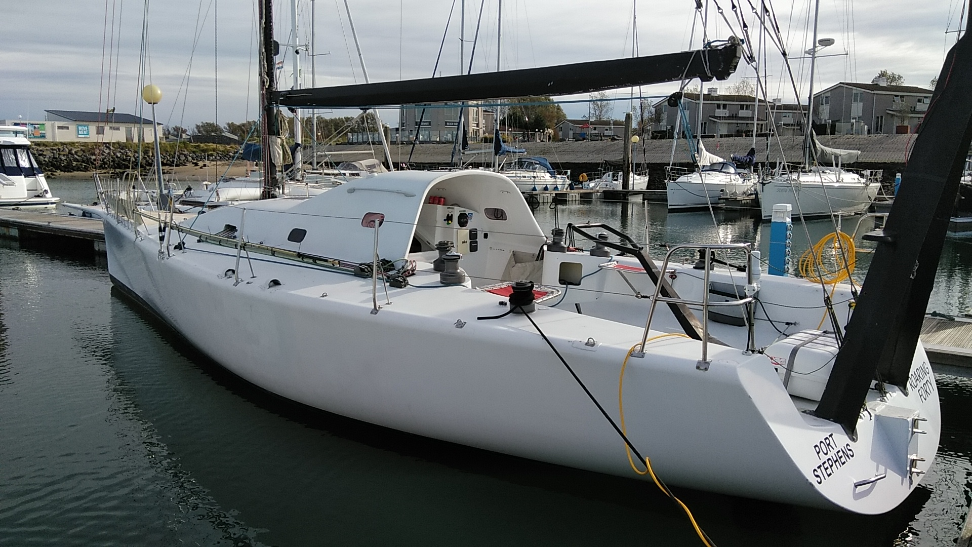 Poidevin's yacht Roaring 40.