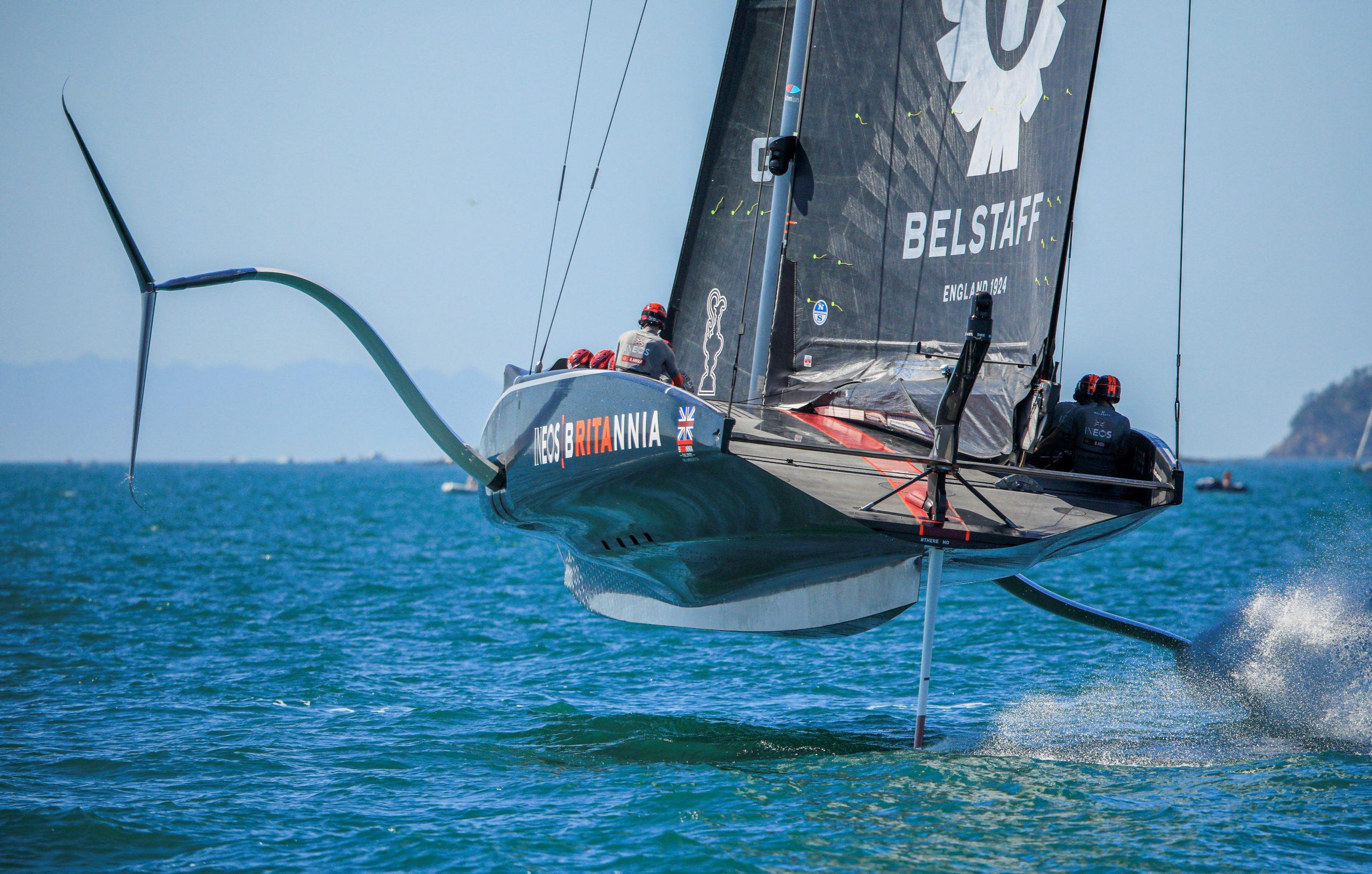 INEOS foiling into the lead - Carlo Borlenghi/COR36 pic