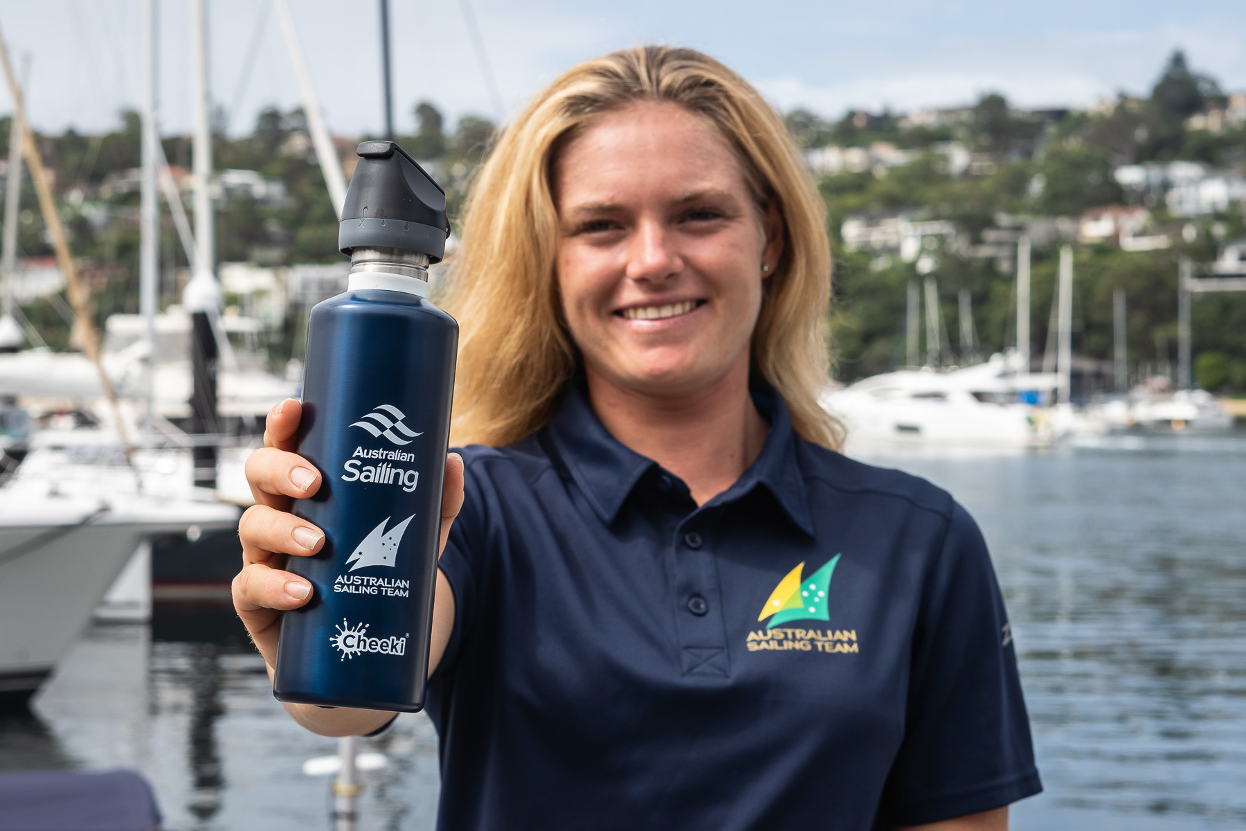 AST member Mara Stransky with her new bottle - Beau Outteridge pic