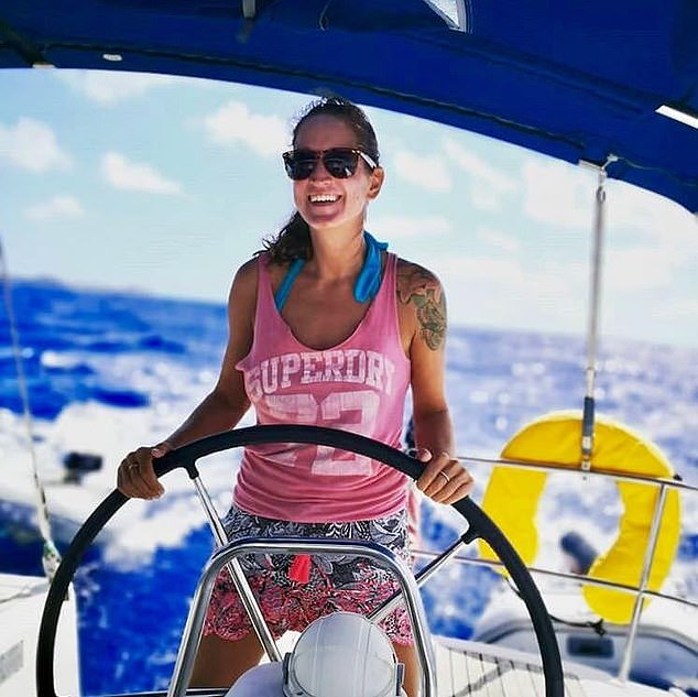 Free-spirited Sarm Heslop vanished from 47ft yacht, the Siren Song, on March 7, while it was moored off the coast of St John in the U.S. Virgin Islands — and she hasn't been seen since. Photo Daily Mail Online.