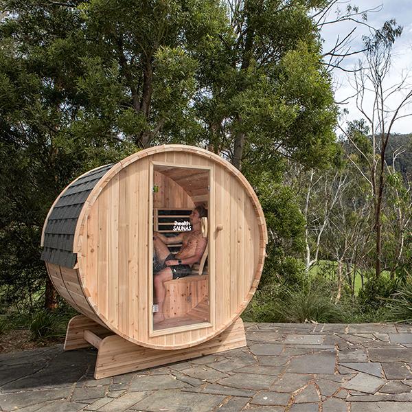 Outdoor sauna. Photo spasupercentre.com.au.