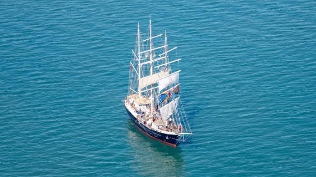 TS Tenacious off Portsmouth (Royal Navy)