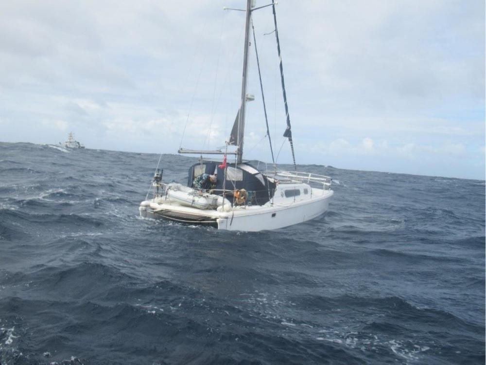 Disabled catamaran Jade. Photo USCG.